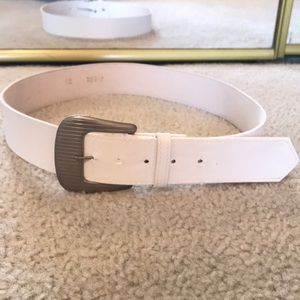 Accessories - Ladies Classy White Belt